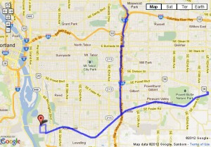 35 mile ride on springwater corridor, Portland Oregon