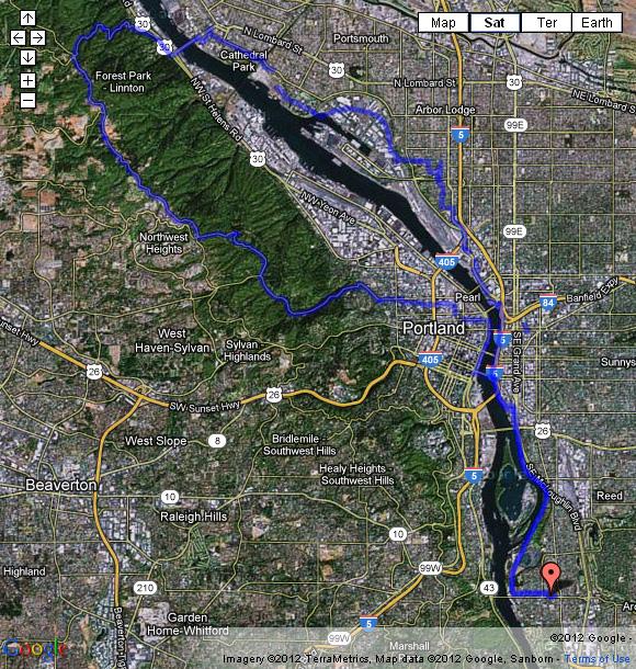 Germantown Road 32 mile bike ride, 04/07/2012