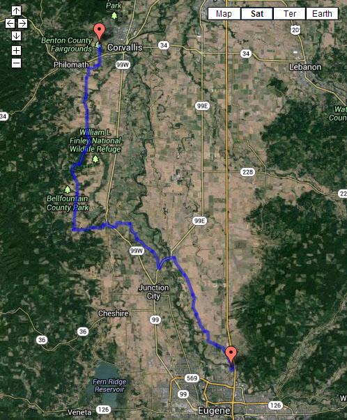 Oregon Coast Loop - Eugene to Corvalis