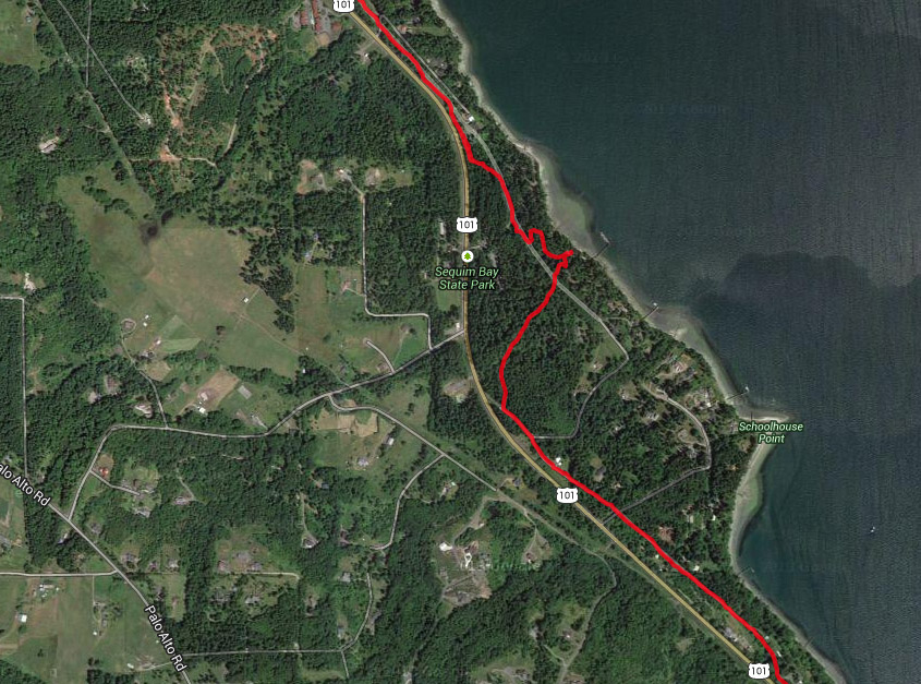Sequim Bay Route Map