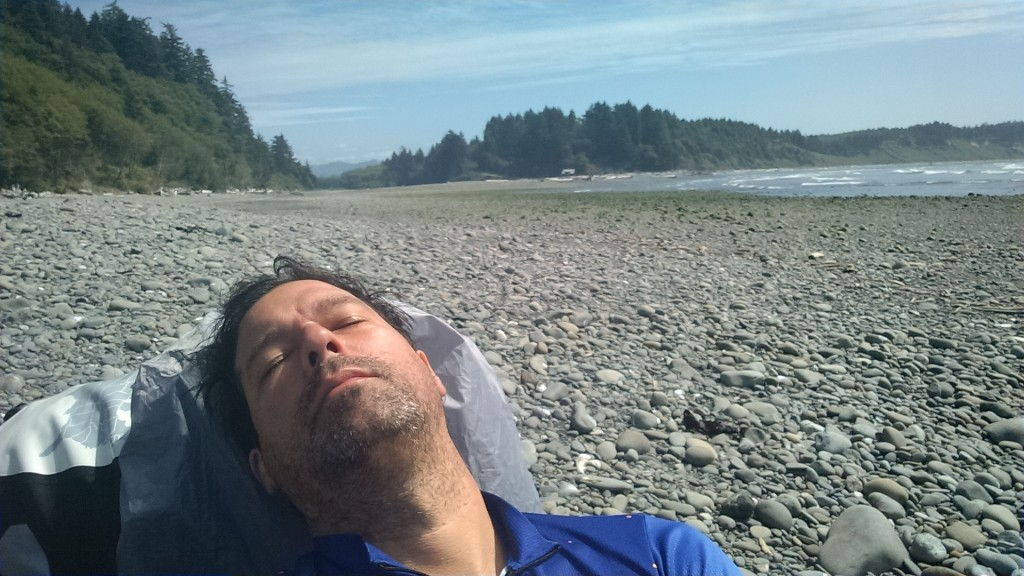 Nap by Hoh River mouth