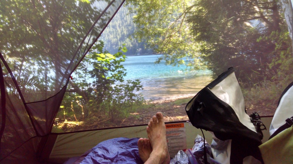 Lake Crescent from the tent