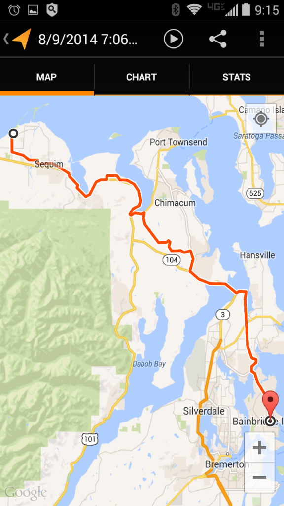 Day 9 - Epic Solo Bike Ride Route