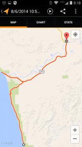 Day 6 - Epic Solo Bike Trip GPS Map